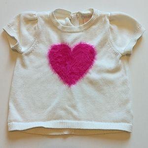 Pink Heart White Knit Shirt * Size 4T